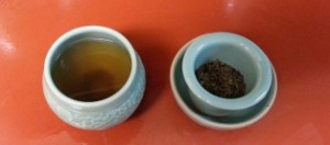 steeped pu'erh tea